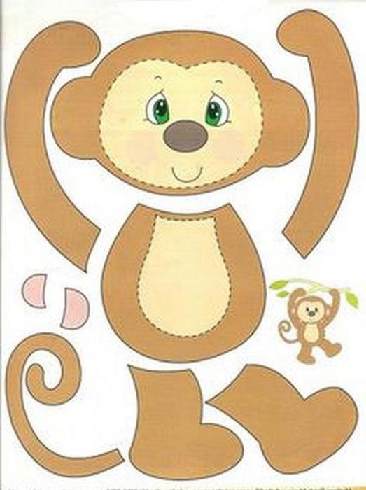 Поделка обезьяна своими руками из бумаги шаблоны