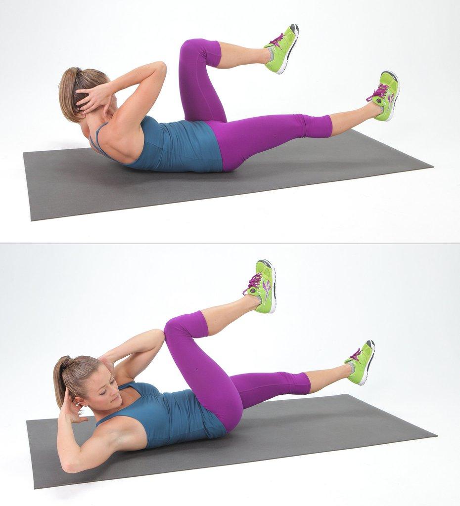 Физические упражнения для похудения живота, бедер, ягодиц и ног