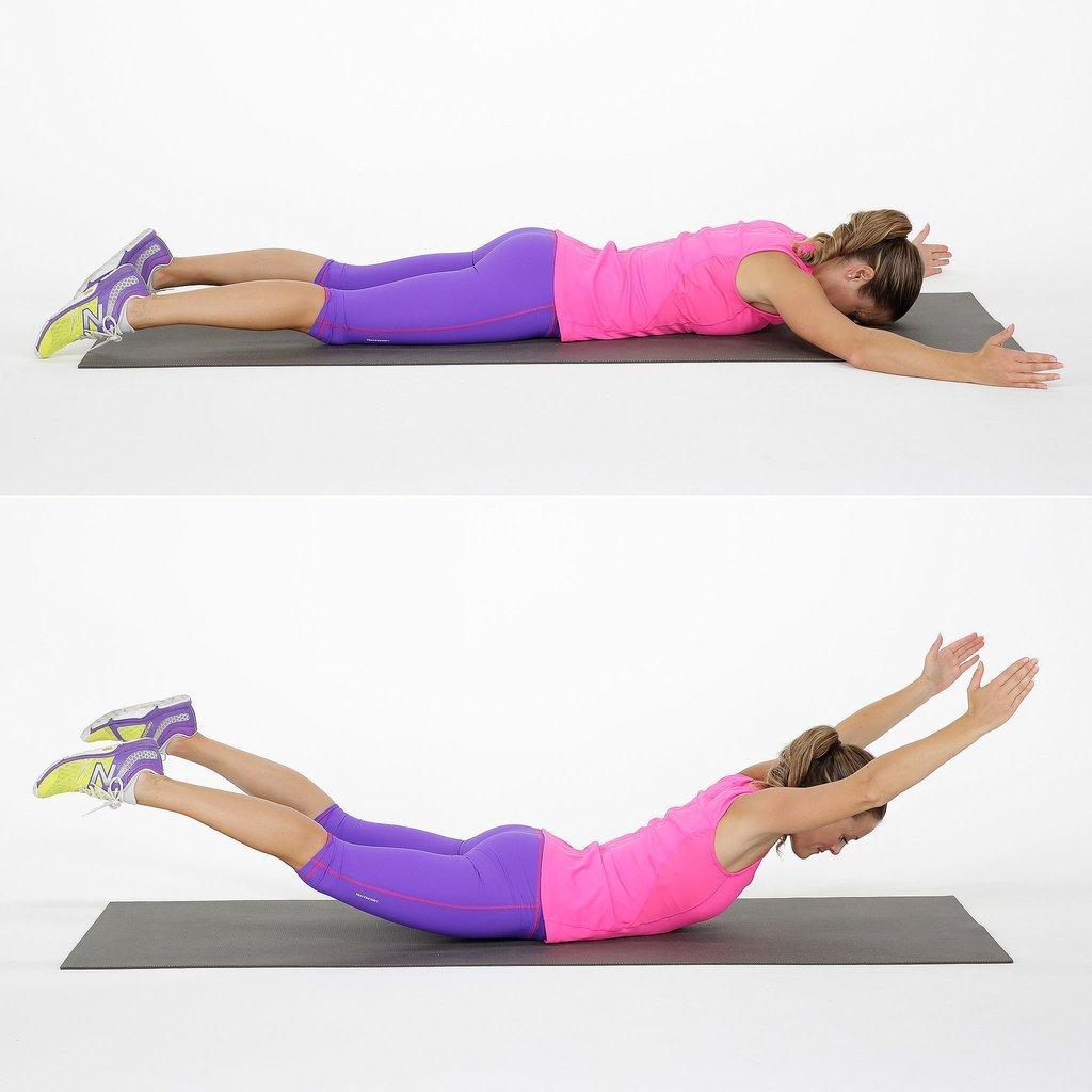 Как убрать складки на спине: упражнения в домашних условиях