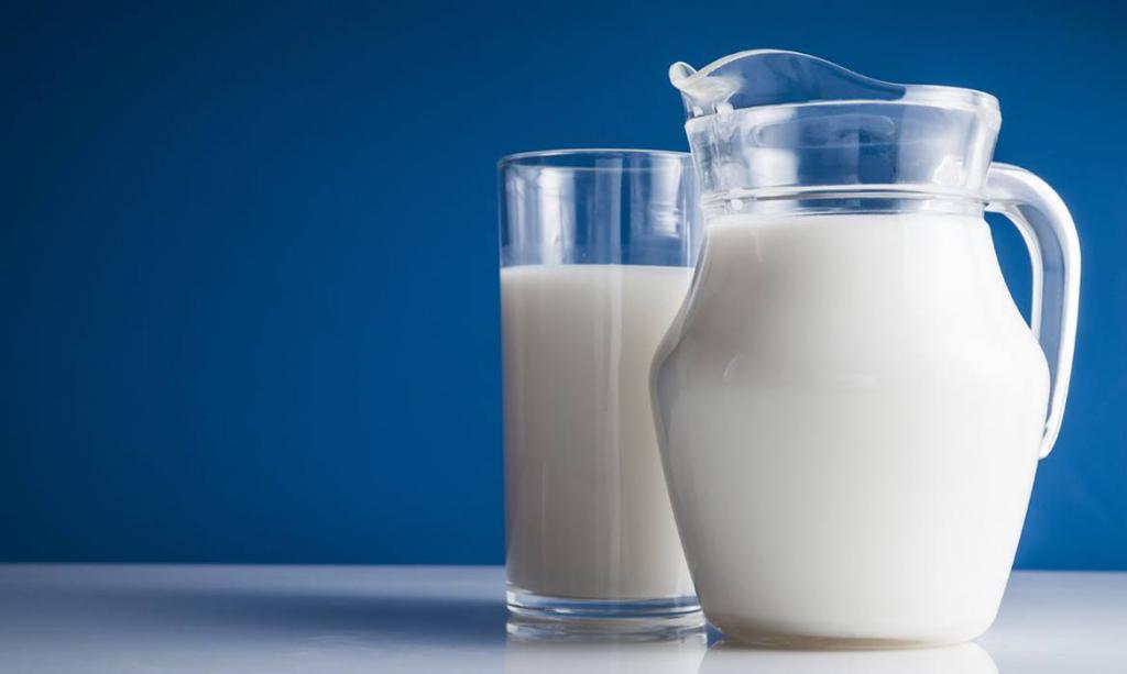 milk in a decanter