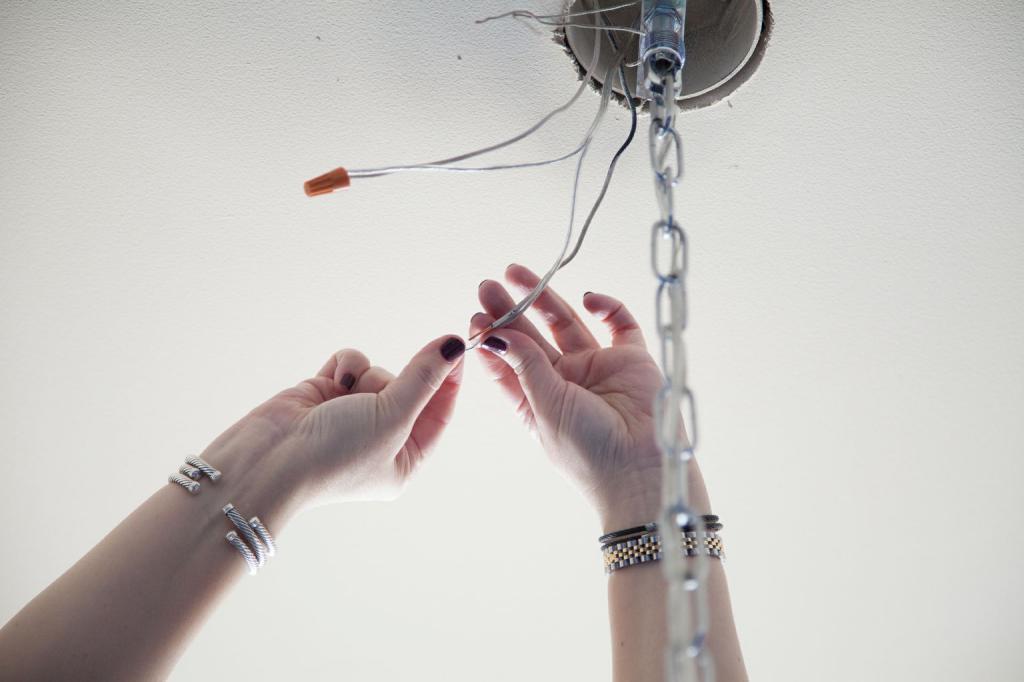 DIY chandelier connection
