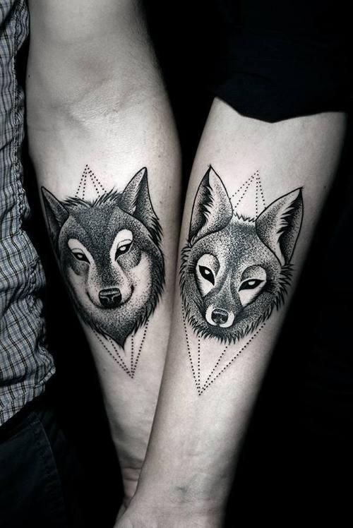 Татуировки для влюбленных пар со смыслом. Совместные татуировки. Татуировки животных. Парные тату