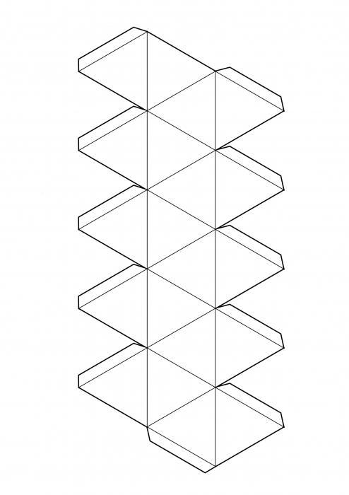 икосаэдр как сделать из бумаги схема