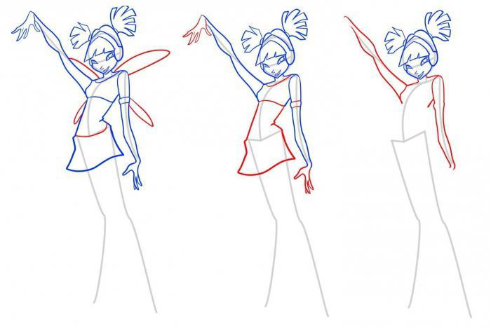 , как нарисовать винкс гармоникс