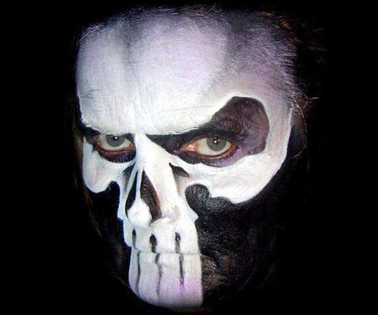 рисунки на лице на хэллоуин