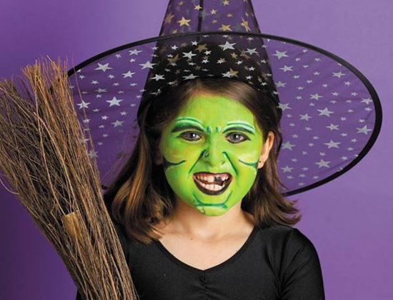 грим на лицо на хэллоуин