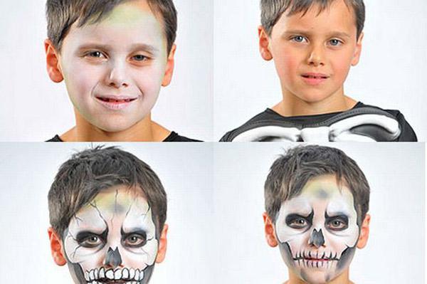 раскраска лица на хэллоуин