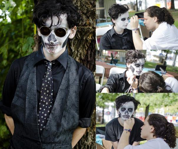 как раскрасить лицо на хэллоуин