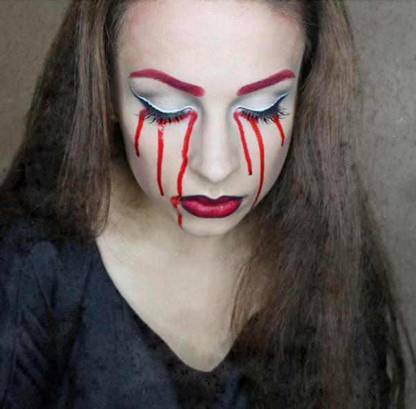 Рисунок на лицо красками на хэллоуин
