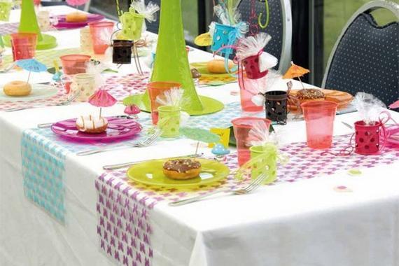 Украшение стола к детскому празднику