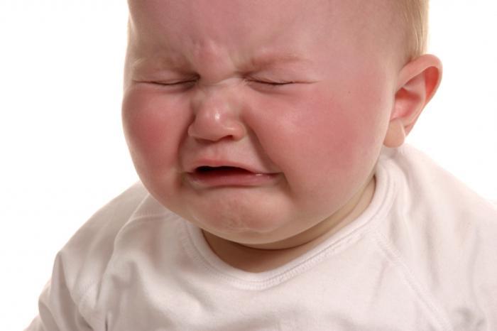 Когда ребёнок плачет трясётся нижняя губа