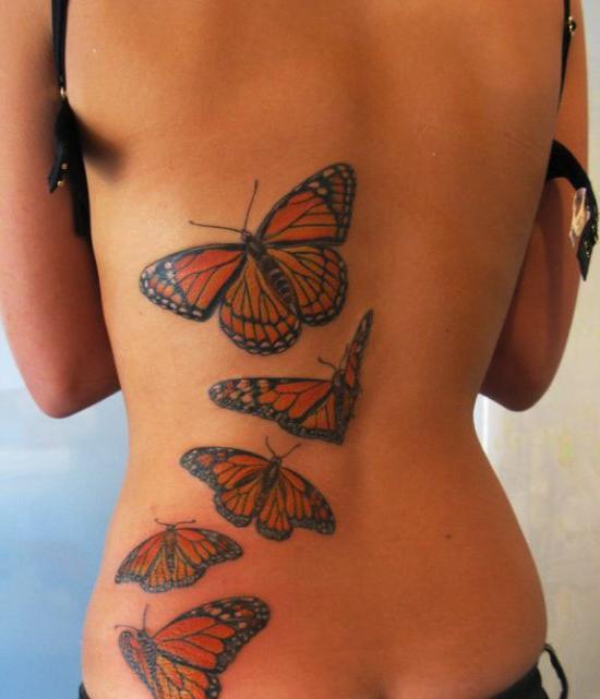 С татуировкой кота на спине трахают девушку 26 фотография