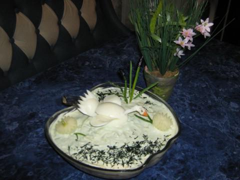 салат белый лебелдь