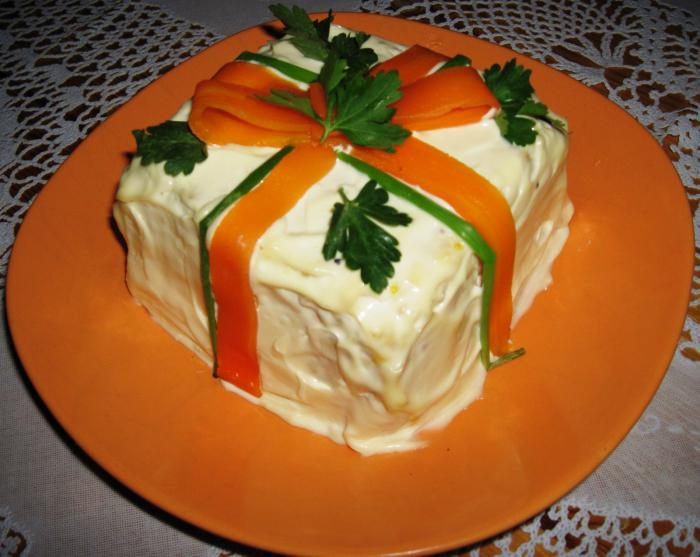 Рецепт салата парусник с фото