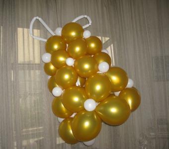 колокольчик из шаров как сделать