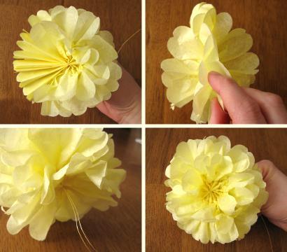 Цветы для топиария из салфеток для начинающих 200