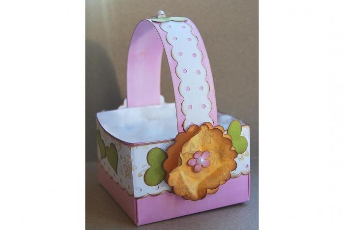 корзинка для пасхальных яиц своими руками