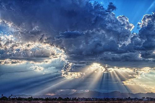 солнечные лучи фотошоп