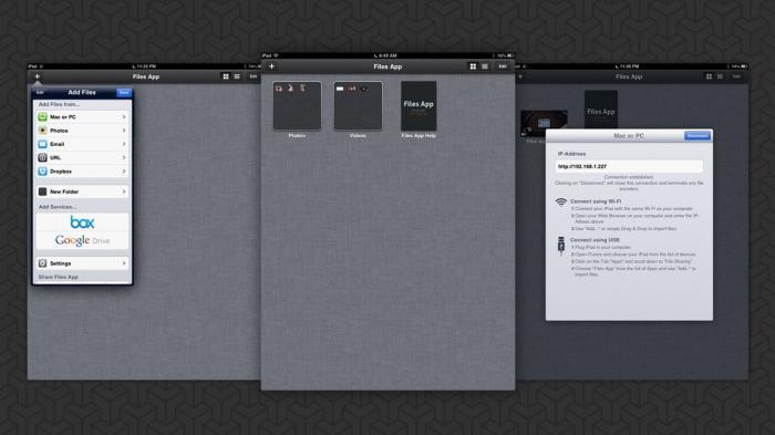 Файловый менеджер для ipad