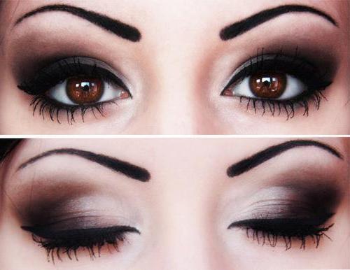 Вечерний макияж на темно карие глаза