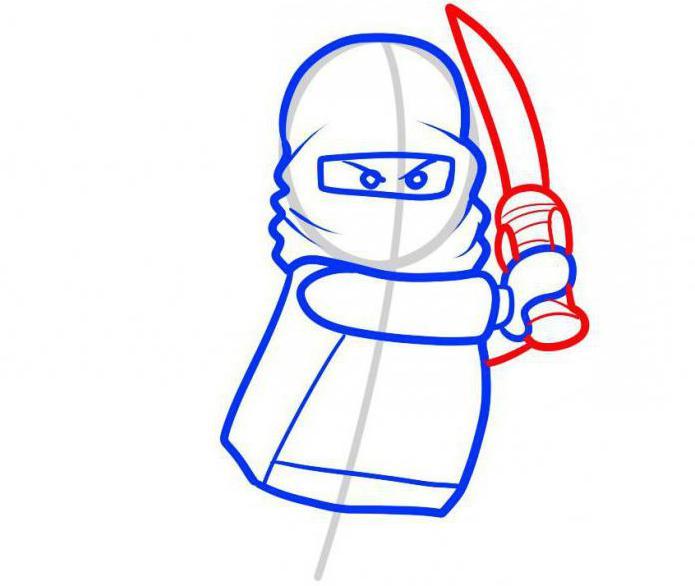 Рисовать лего ниндзя го карандашом поэтапно