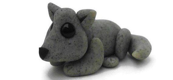 как сделать волка из пластилина