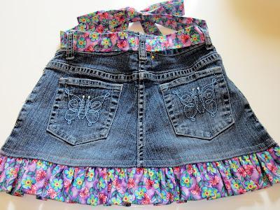 Из джинсов сшить детскую юбку фото 567