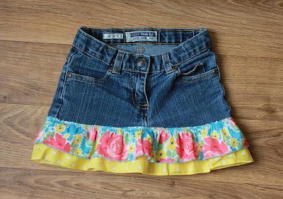 Из джинсов сшить детскую юбку фото 845