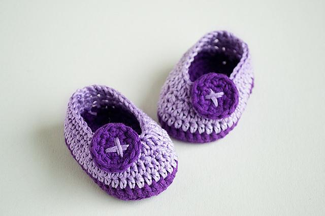 вязать пинетки крючком для новорожденных для начинающих 4