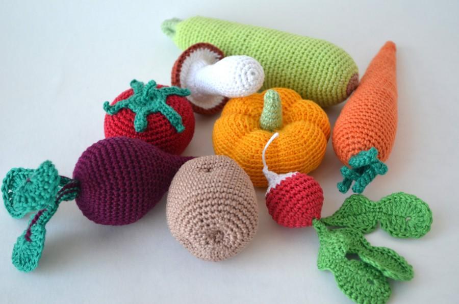 вязание крючком фрукты