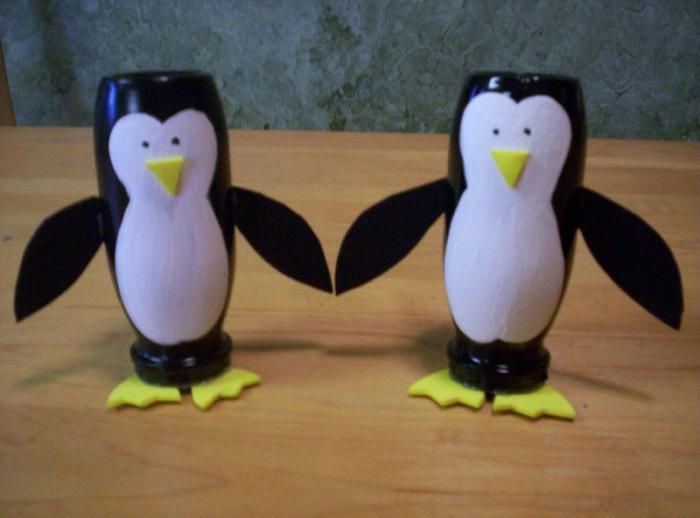 пингвин из пластиковой бутылки
