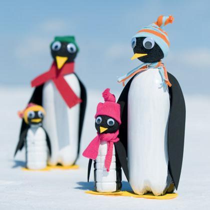 как сделать пингвина из пластиковой бутылки