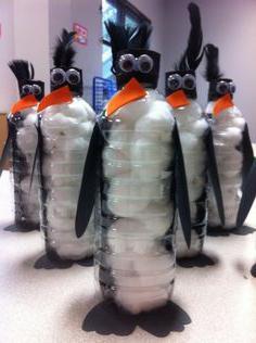 поделки из пластиковых бутылок пингвины