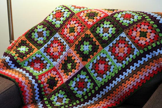 вязание бабушкин квадрат