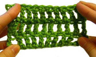как связать столбики с двумя накидами
