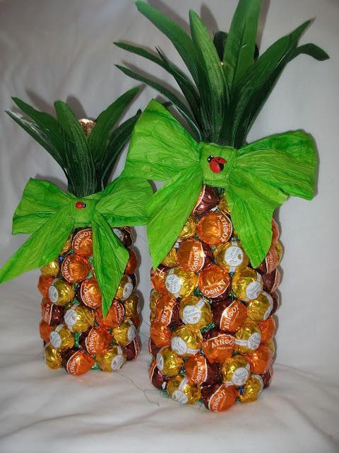 ананас из конфет инструкция