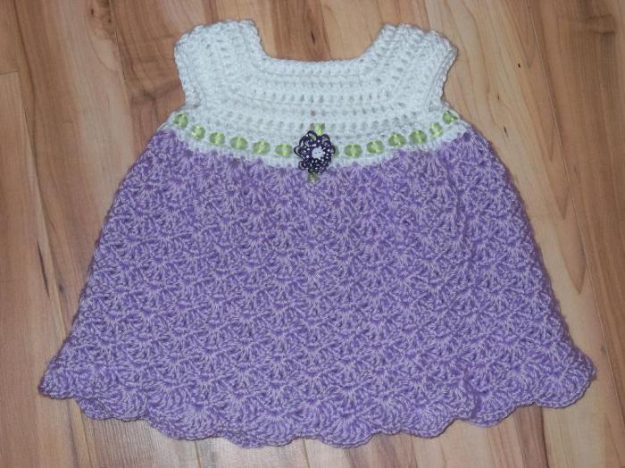 платье крючком узором ракушки