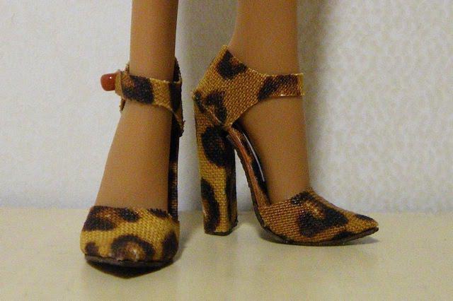 Туфли для куклы на каблуках 121