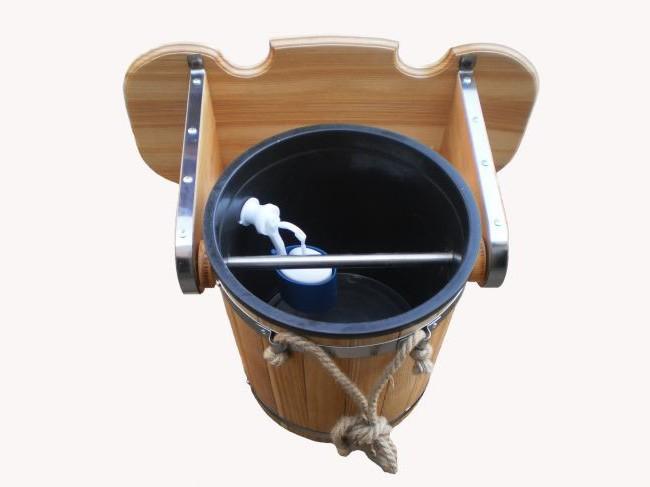 Ведро для обливания в бане