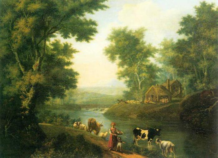 Пейзаж в литературе музыке живописи