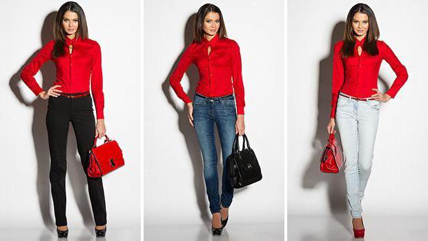 черно красная блузка