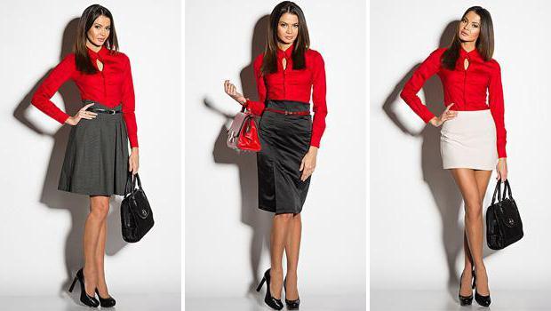 блузки красного цвета