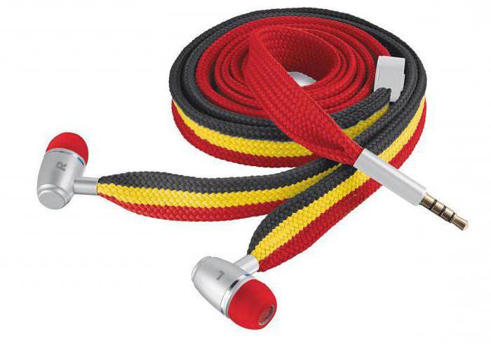 наушники в виде шнурков
