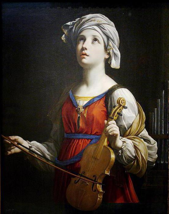 "The painting ""Saint Cecilia"" by Raphael Santi: description"