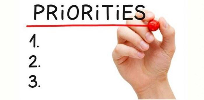 правильно расставленные приоритеты