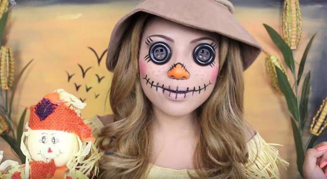 очень страшный макияж на хэллоуин