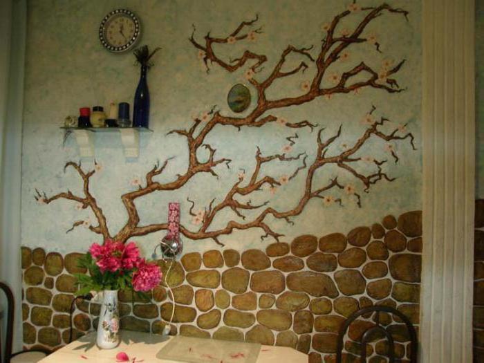 Как разрисовать стены в кухне