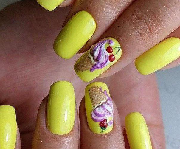 фото дизайн желтых ногтей