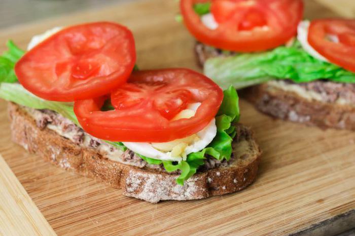 сколько калорий в бутерброде