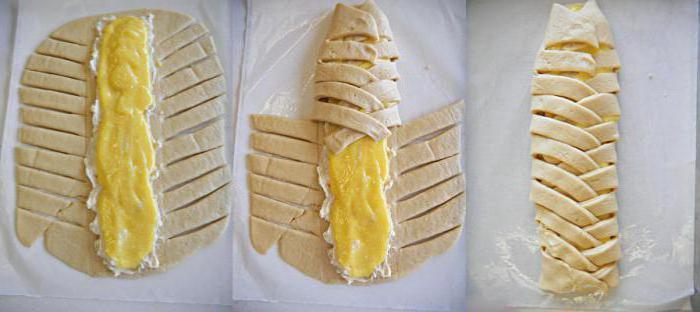 слоено дрожжевой пирог с творогом